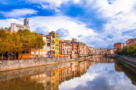 jewish houses: beautiful canals of romantic Girona town - Spain