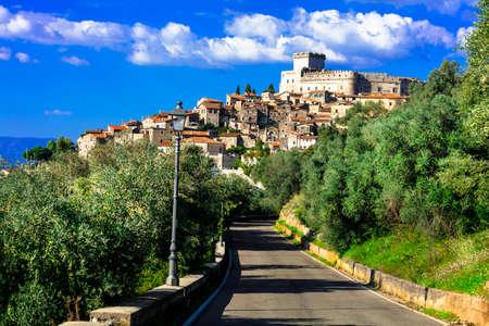 top mountain: Sermoneta - medieval town and castle in Italy
