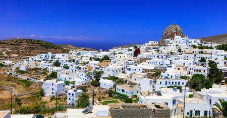 chora: Traditional Greece- Chora village of Amogos. Cyclades