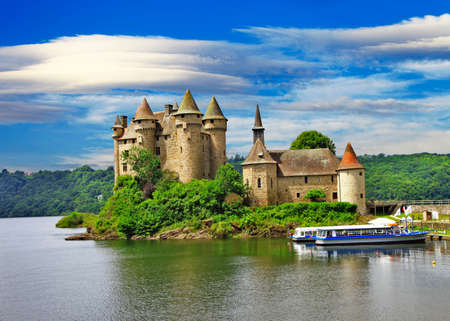 Beautiful romantic castles of France - Chateau de Val Editorial