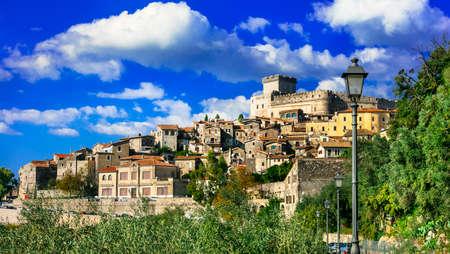 セルモネータ - 美しい中世の村とイタリア、ラツィオの要塞 写真素材
