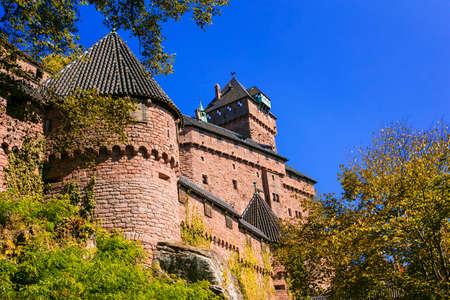 haut: Medieval castle - fortress Koenisbourg, France