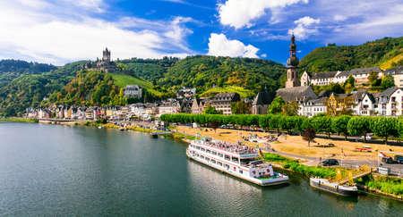 Cochem - middeleeuwse stad in de rivier van Rijn, Duitsland Stockfoto