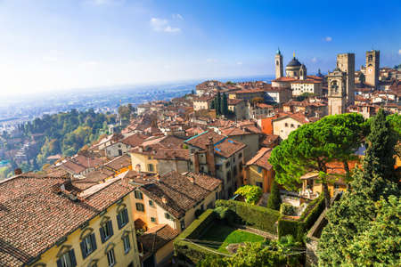 romantic places: Bergamo - medieval town, north Italy