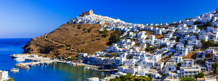 chora: authentic beautiful islands of Greece - Astypalea, view of Chora village
