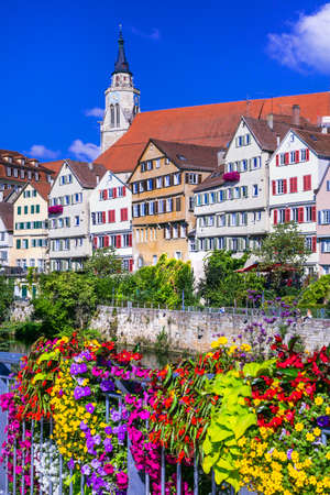 colourful Tubingen town - Germany Stock Photo