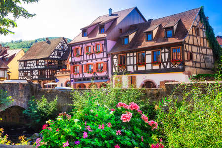 regions: one of the most beautiful villages of France - Kayserberg, Alsace region