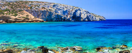 Panoramic view of Astypalea island, Dodecanese, Greece.