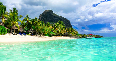 Tropicla holidays. breathtaking turquoise beaches of Mauritius island.