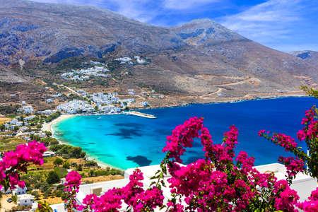 greek islands: amazing Greek islands - Amorgos. Cyclades Stock Photo