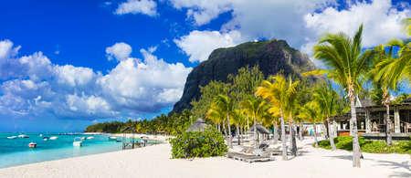 beautiful beaches of Mauritius island - Le morne