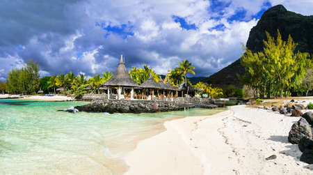 Isla Mauricio - Playa Le Morne Foto de archivo