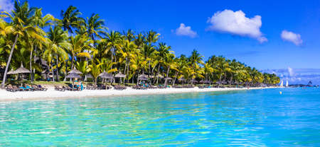 perfect Tropical holidays - white sandy beaches of Mauritius island