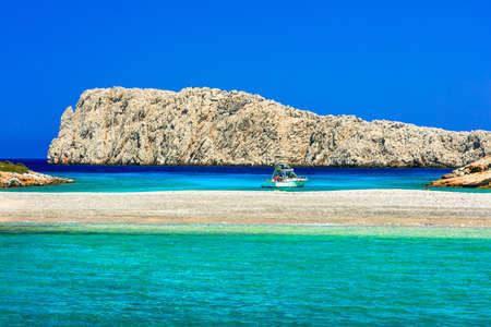 Beautiful Kounoupa beach, Astypaleia island, Greece.