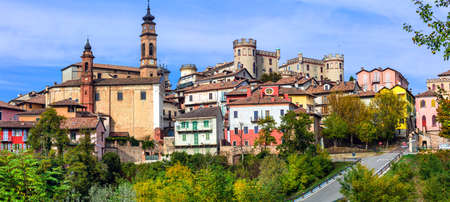 Beautiful medieval village Castiglione dAsti in Piedmont, Italy