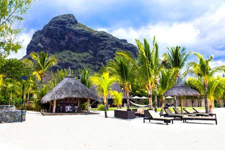 popular: Panoramic view of Le Morne, Mauritius island. Stock Photo