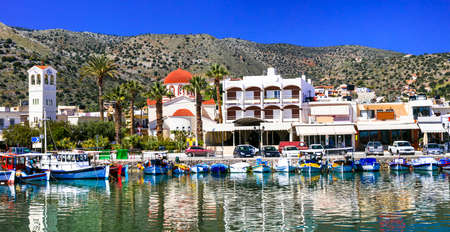 Beautiful Elounda Village, Crete island, Greece.