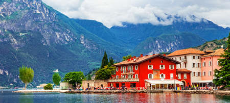 Beautiful village Torbole, Lake of Garda, Italy.