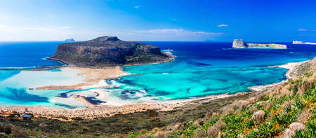 Incredible nature in Balos bay, Crete island, Greece. Stock Photo