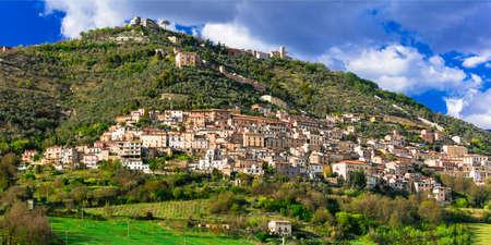 Beautiful Alvito village,Lazio,Italy.Panoramic view. Banco de Imagens