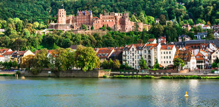 Panoramic view of Heidelberg medieval town,Germany.