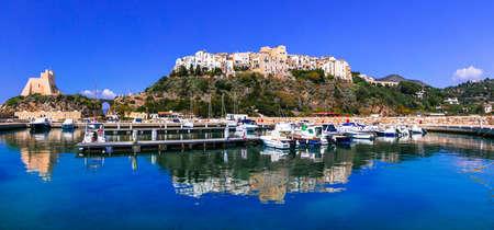 Beautiful Sperlonga village,panoramic view,Lazio,Italy. Stock Photo