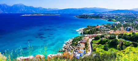 Beautiful Crete island, panoramic view, Greece. Reklamní fotografie
