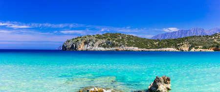 Beautiful Crete Island, Beautiful Istron Bay, Greece.