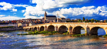 Beautiful Blois medieval town, Loire valley, France.