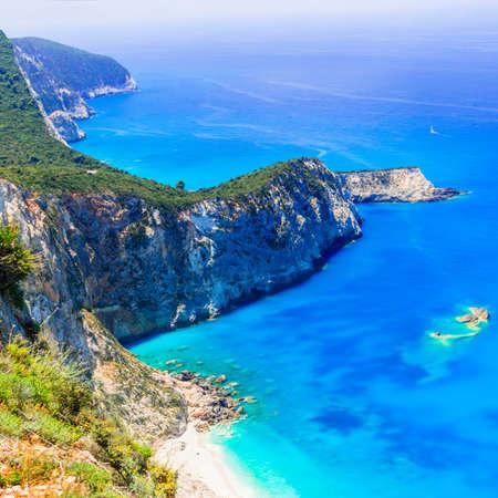 Impressive Porto Katsiki beach, Lefkada island, Greece. 版權商用圖片
