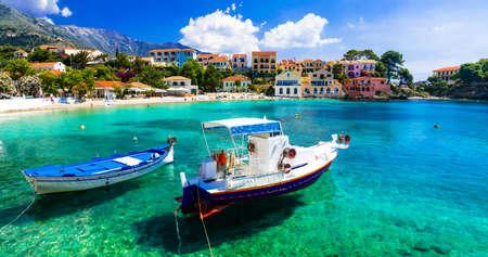 Beautiful Assos village, Kefalonia island, Greece.