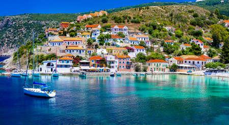 Colorful Assos village, Kefalonia island, Greece.