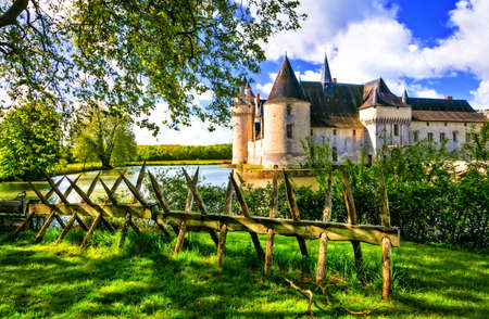 Pictorial Plessis Bourre castle, Loire valley, France. Stock Photo