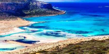 Beautiful Balos Bay, Crete Island, Greece.