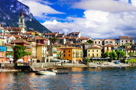 Panoramic view of Varenna village, Lake Como, Italy.