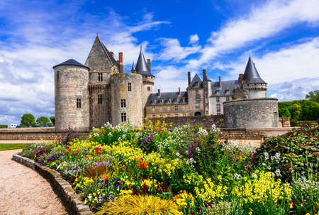 Beautiful Sully-sur-Loire medieval castle, France.