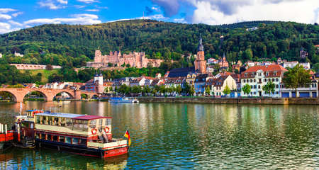 Beautiful Heidelberg medieval town, panoramic view, Germany.