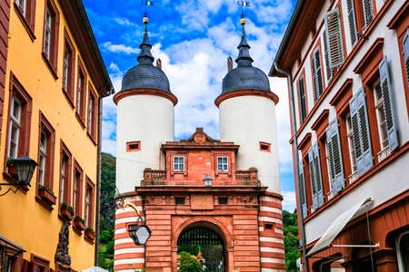 Landmark of Germany, Gate of Heidelberg. Stock Photo