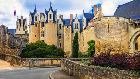 Great Montreuil-Bellay medieval castle, Loire valley, France.