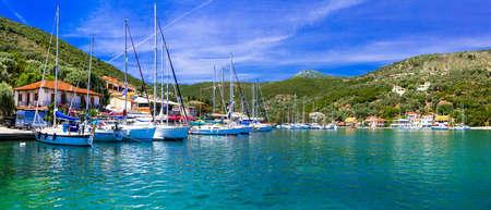 Beautiful Sivota village, Lefkada Island, Greece. Stock Photo