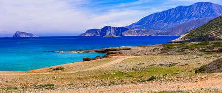 Beautiful beaches of Crete island, panoramic view, Greece.