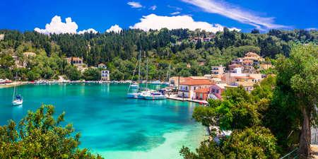 Beautiful Lakka beach, Paxos island, Greece.