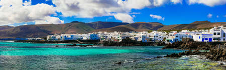 Impressive Punta Mujeres fishing village, Lanzarote island, Spain.