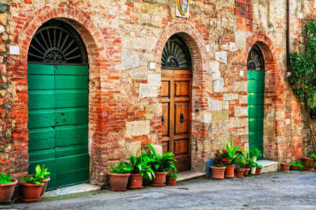 Old strets of italian village, Spello, Umbria.