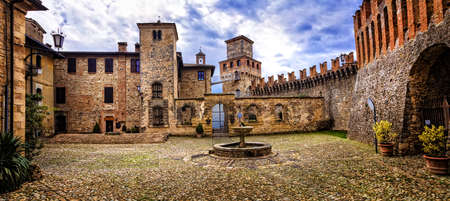 Beautiful Vigoleno castle and medieval village, Emilia romagna, italy. Editorial