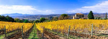 Impressive autumn landscape of Tuscany, Italy.