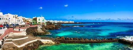 Beautiful Punta Mujeres village, Lanzarote island, Canary, Spain.