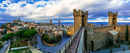 Impressive Montalcino village, view from fortress, Tuscany, Italy.