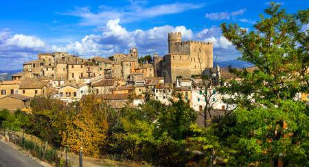 Beautiful Nazzano Romano village, panoramic view, Lazio, Italy.