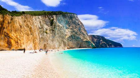 Beautiful Porto Katsiki beach, Lefkada Island, Greece.